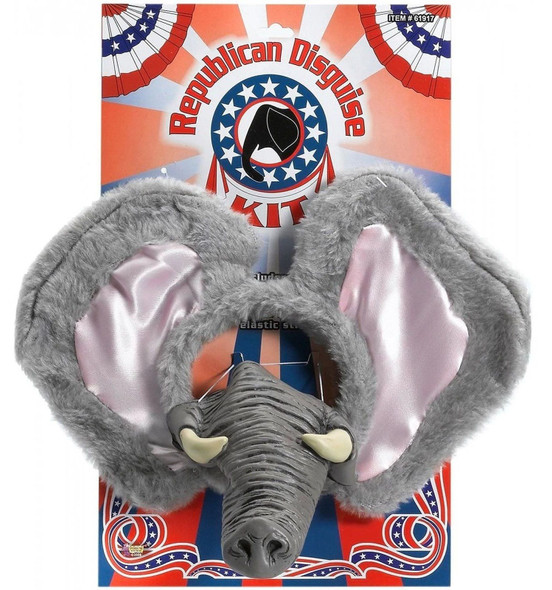 Grey Elephant Republican Party Kit Jungle Safari Circus Animal Costume Accessory