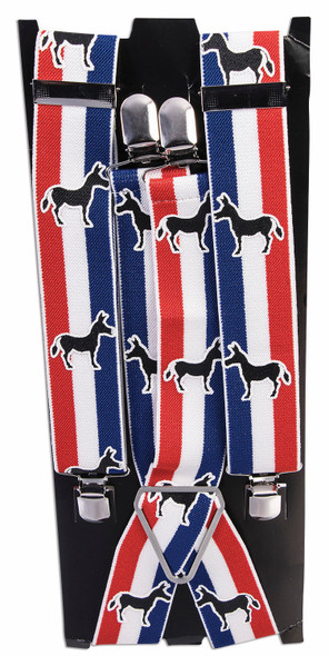Democratic Patriotic Suspenders Donkey Politics Adult Men's Costume Accessory