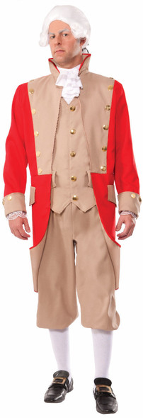 Men's British Army Red Coat Adult Costume Uniform Halloween Soldier Military New