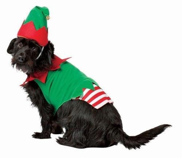 Rasta Imposta Santa's Little Helper Elf Dog Costume Christmas Pet Hat One Piece