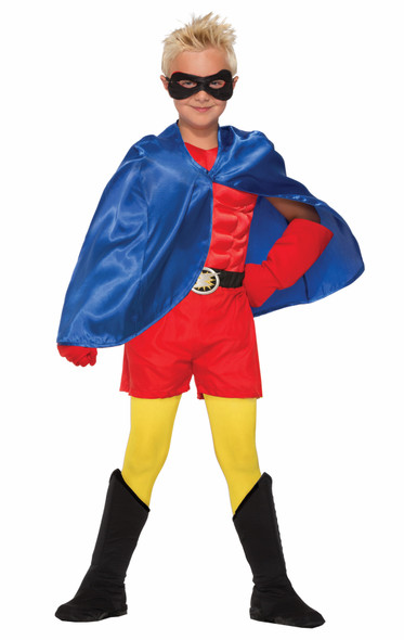 Child Super Hero Costume Cape Boys Girls Halloween Villain Magician Phantom O/S