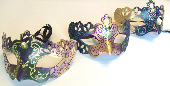 Eye Mask Glitter Design Mardi Gras Halloween Costume Accessory Adult Men Women