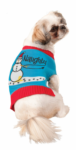 Funny Naughty Bad Dog Knitted Sweater Elf Pet Costume Dog Cat Christmas SM-MD