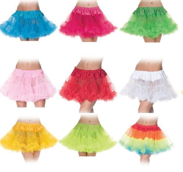 Tutu Skirt Ballerina Adult Womens Costume Crinoline 80's Rave Disco Neon Colors