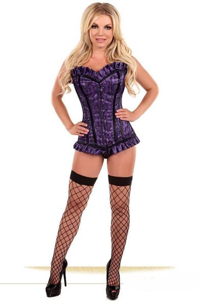 Daisy CorsetsTop Drawer Purple Lace Steel Boned Sexy Lingerie Cincher sm-xl
