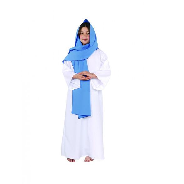 Deluxe Mary Costume Fancy Dress Manger Scene Child Tunic Girls Christmas Sm-Lg