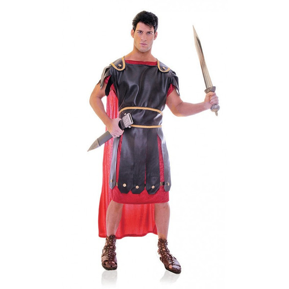 Centurion Roman Warrior Costume Adult Toga Gladiator Velvet Red Toga Std-XXL