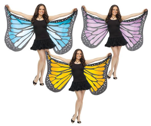Monarch Butterfly Wings Adult Halloween Costume Accessory Orange Blue Purple New