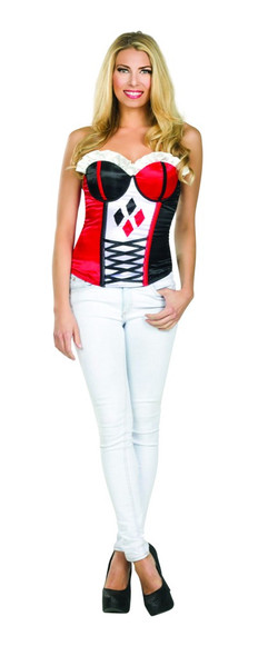 Suicide Squad Harley Quinn Women's Corset Costume Accessory DC Comics S-M-L New