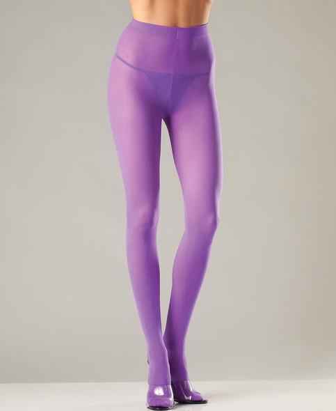 Sexy Purple Opaque Pantyhose Womens Plus Size Tights Queen Costume Accessory