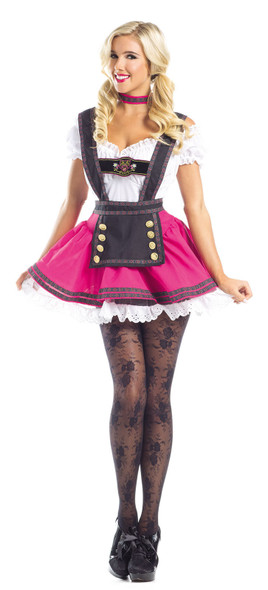 Be Wicked Swiss Beauty Costume Womens Beer Maiden Oktoberfest Fancy Dress