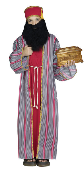 3 Wise Men Child Costume Boys Biblical Christmas Manger Nativity Wiseman Red