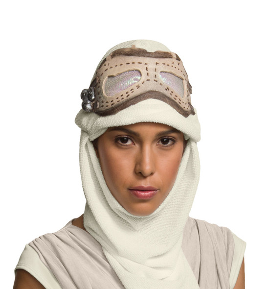 Star Wars Rey Goggles Mask Hood Adult Womens The Force Awakens Costume Accessory
