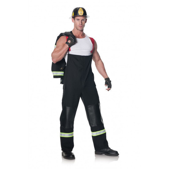 Rescuer Hero Fireman Firefighter Adult Halloween Costume Helmet Men Standard-XXL