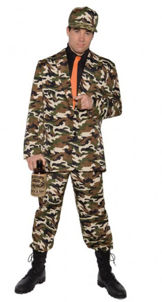 Bayou Beau Funny Camo Wedding Redneck Suit Adult Men's Costume Standard Size New