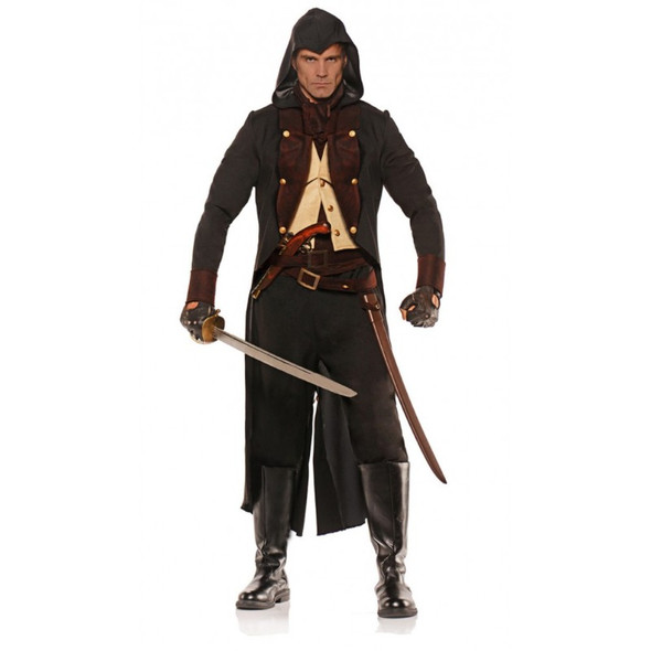 Eliminator Costume Mens Adult Colonial Style Pirate Assassin Medieval Std-XXL