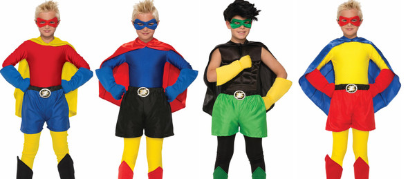 Create Your Own Super Hero Child Costume Accessory Boxer Shorts Up To Size 10