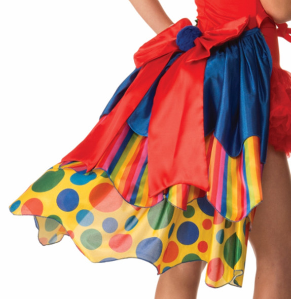 Classic Clown Bustle Circus Multicolor Polka Dots Womens Adult Costume Accessory