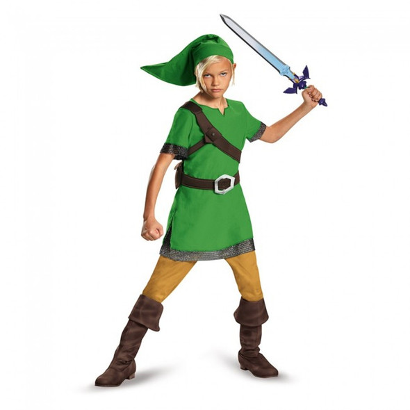 Nintendo The Legend Of Zelda Video Game Child Halloween Costume Boys Link MD-XL