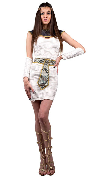 Pyramid Scheme Costume Womens Egyptian Goddess Cleopatra Fancy Dress Roman MD-XL