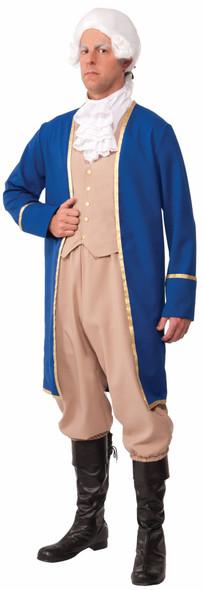 Men's George Washington Costume President Colonial Blue Adult Men Std-XL