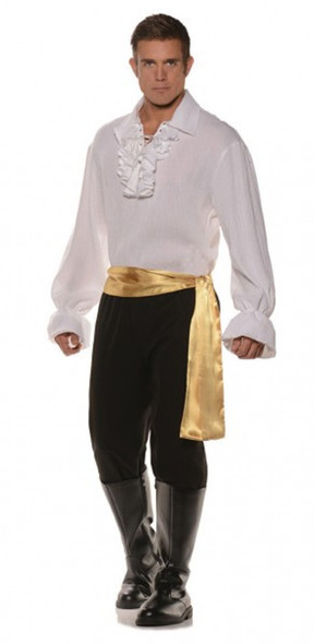 High Seas Bandit Pirate Swashbuckler Mens Adult Costume White Standard Plus Size