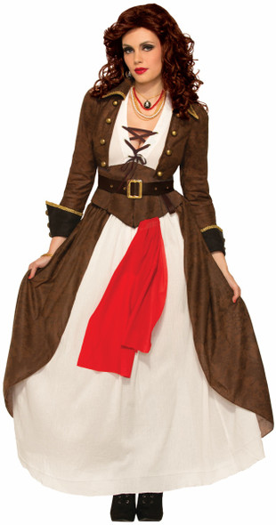 Lady Matey Pirate Wench Caribbean Buccaneer Adult Women's Costume XS-SM MD-LG