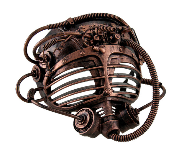 Copper Steampunk Submarine Half Mask Adult Mens Womens Masquerade Scuba Diver