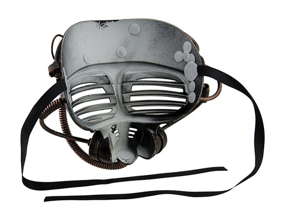 Silver Steampunk Submarine Half Mask Adult Mens Womens Masquerade Scuba Diver