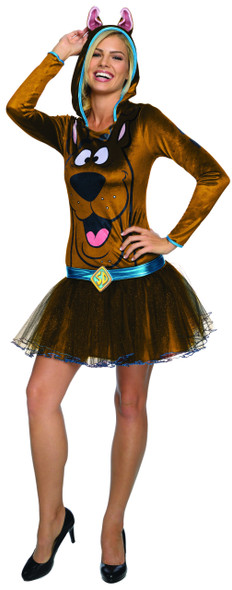 Rubie's Scooby-Doo Women's Costume Hooded Tutu Dress Brown Dog Sizes XS-SM-MD-LG