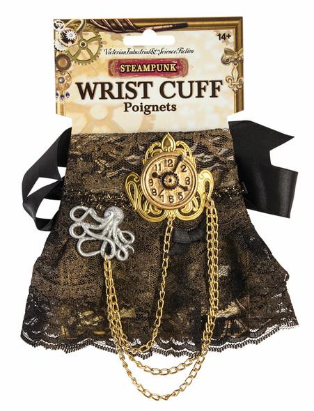 Steampunk Wrist Cuff Brown Clock Chain Adult Women's Victorian Costume Accessory