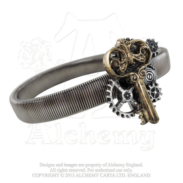 Alchemy Of England Empire Key To Progress Steampunk Shirt Sleeve Band Expandable