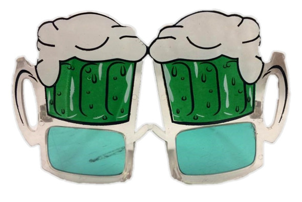 St. Patrick's Day Green Beer Mugs Eye Glasses Sunglasses Costume Accessory