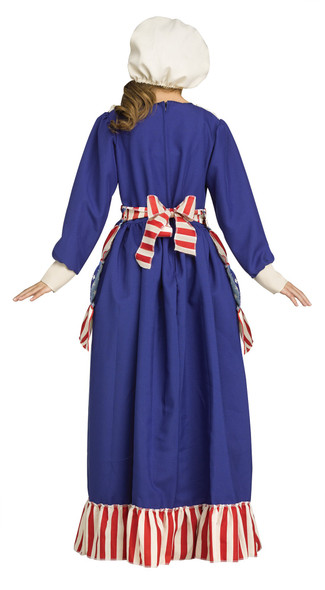 Betsy Ross Girls Costume Dress Colonial Patriotic Flag Maker Historical Child