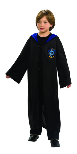 Harry Potter Ravenclaw Child Hooded Robe Clasp Costume Cape Cloak Licensed