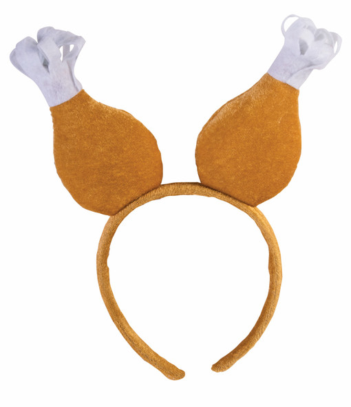 Turkey Drumstick Chicken Headband  Boppers Thanksgiving Adult Costume Accessory