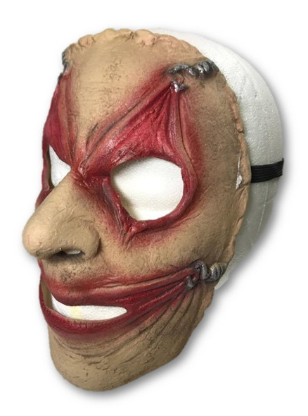 Piercing Frontal Face Mask Hooked Gruseome Stretched Eyes Mouth Halloween Adult