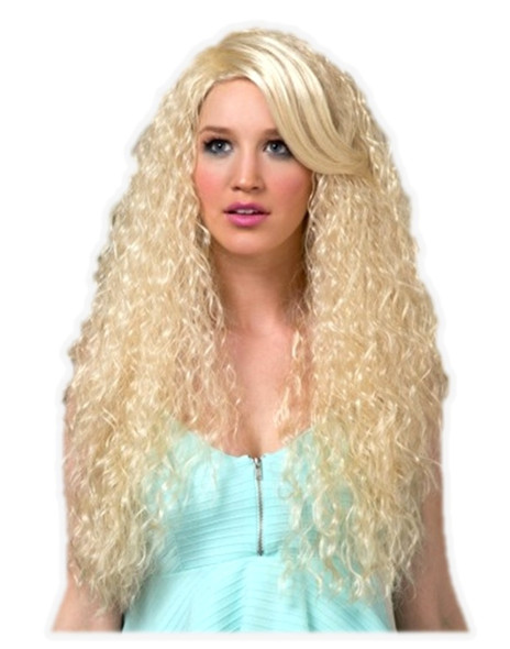 High Quality Blush Nova Cali Blonde Long Curly Costume Wig Adult Fantasy Style