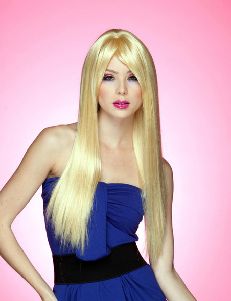 High Quality Blush Divine Apricot Blonde Costume Wig Womens X-Long Straight