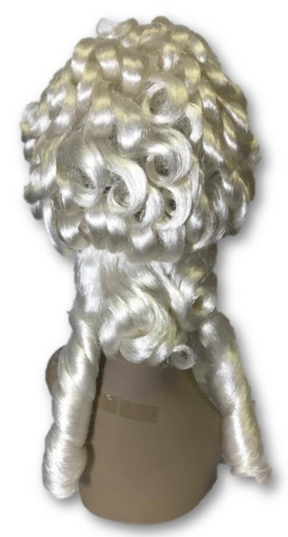 Deluxe High Quality White Renaissance Women's Wig Colonial Ringlet Curls Adult