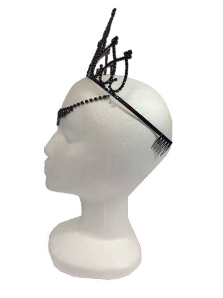 Black Fairy Tiara Medieval V Drop Queen of Hearts Halloween Costume Accessory