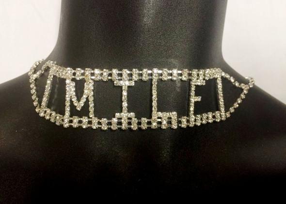 Sexy Rhinestone MILF Choker Necklace Costume Accessory Jewelry Naughty K*nky