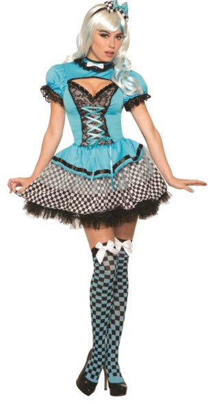 Once Upon A Time Alice In Wonderland Adult Women's Costume Dress Up To Size 12