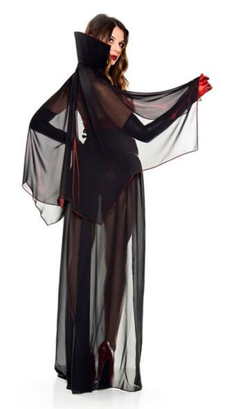 Bloody Vixen Vampire Romper Vamp Sexy Adult Women's Halloween Costume XS-S/M-M/L