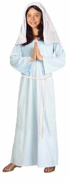 Blessed Virgin Mary Costume Child Veil Girl's Christmas Manger Medium 8-10