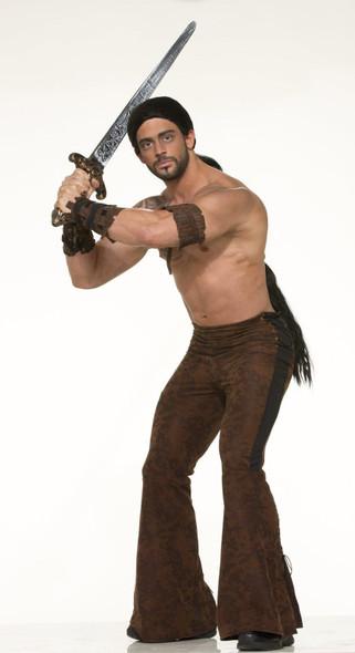 Warrior Pants Adult Men Std Halloween Medieval Black Brown Costume Accessory New