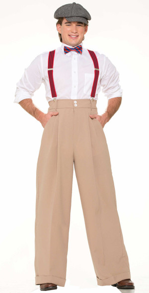 Deluxe Roaring 20's Beige Pants Adult Men Costume Accessory Newsboy New Standard