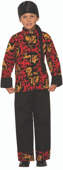 Dragon Prince Kids Halloween Costume Child Samurai Ninja Kung-Fu Master SM-LG