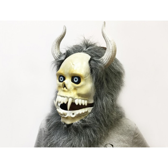 Dlx Moving Mouth Yeti Creature Mask Animal Adult Sized Halloween Costume Head