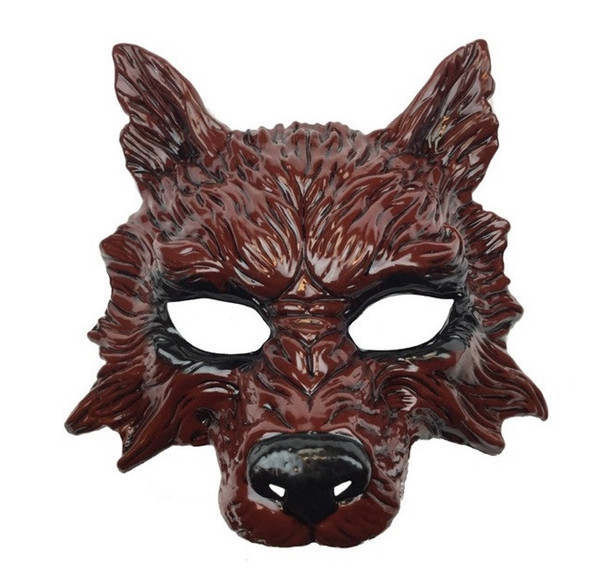 Bloody Red Wolf Half Mask Adult Animal Angry Dog Costume Accessory